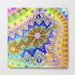 Colourful assymetric fractal patterns Metal Print
