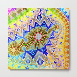 Colourful assymetric fractal patterns Metal Print