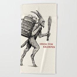 Gruss vom Krampus Beach Towel
