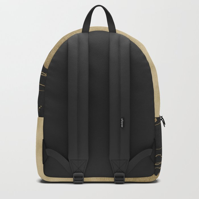 Chicago Black and Gold Street Map Backpack
