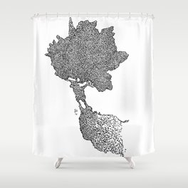 Ragging maple Shower Curtain