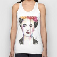 frida Tank Tops featuring Frida by SirScm