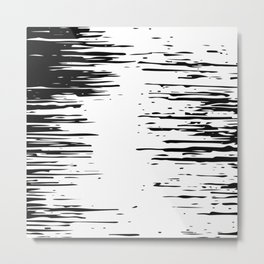 Splash Black and White Metal Print