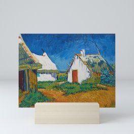 Three White Cottages in Saintes-Maries by Vincent van Gogh Mini Art Print