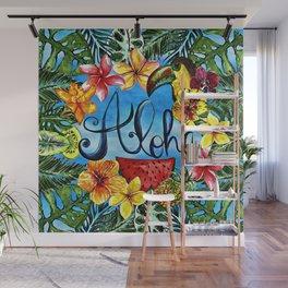 Aloha - Tropical Flower Food and Animal Summer Design Wall Mural
