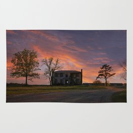 Old House at Sunset Rug