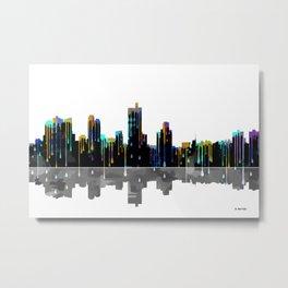 Fort Worth Skyline BW1 Metal Print