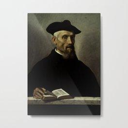 Giovanni Battista Moroni - Portrait of an Ecclesiastic Metal Print