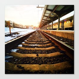 Sunset Tracks Canvas Print