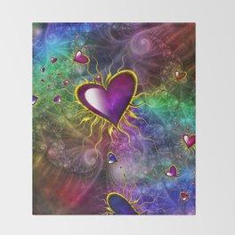 Galaxy Of Hearts Throw Blanket