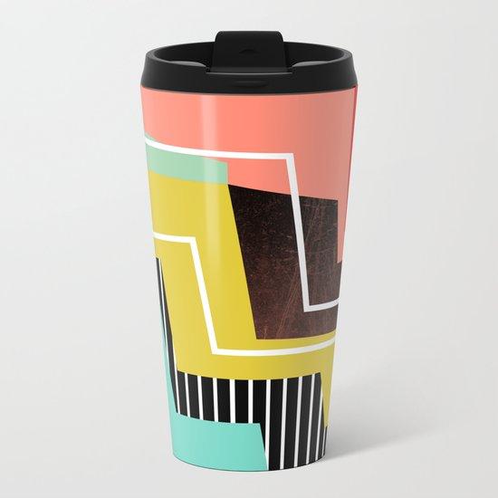 Color Block Metal Travel Mug