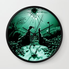 Abandoned Tower Poster Art Wall Clock