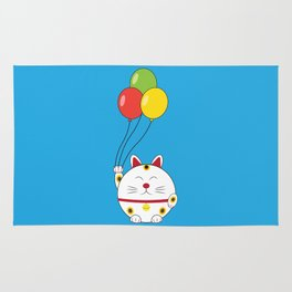 Fat Cat with Balloons Rug