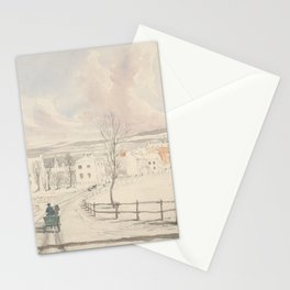 Vintage Montpelier Vermont Watercolor Painting (1841) Stationery Cards