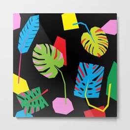 PHILODENDRON CUTOUT II - Tropical Plant Life Nature Flora Fauna Minimal Palm Leaf Metal Print