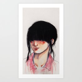 Girl with the Fringe Art Print
