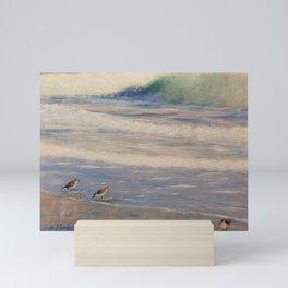 Surf and Sandpipers Mini Art Print