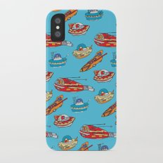 Drawn Spaceships iPhone X Slim Case