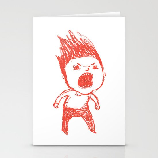 Angry Guy Stationery Cards
