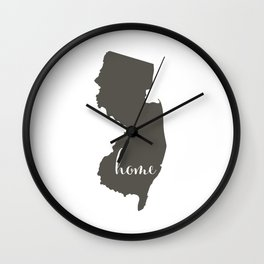New Jersey is Home Wall Clock