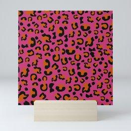 Jungle - Leopard Pattern Pink Mini Art Print