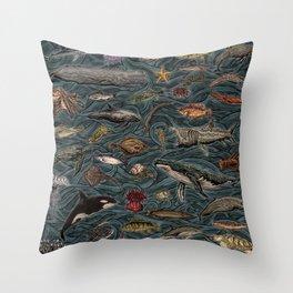 Sea & Ocean Life Maritime Pattern Throw Pillow