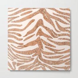 Rose Gold Tiger Stripes Metal Print