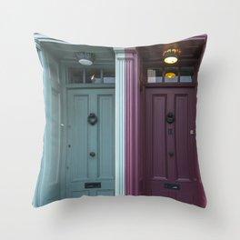 The twins London doors Throw Pillow
