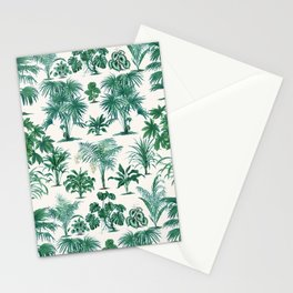Exotic Tropical Palm Print Stationery Cards