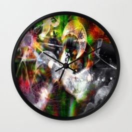 Dreaming...glitches Wall Clock