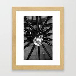 wheel carriages Framed Art Print