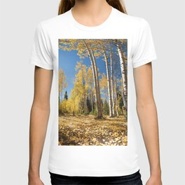 Crested Butte Colorado Fall Colors Panorama - 3 by OLena Art T-shirt