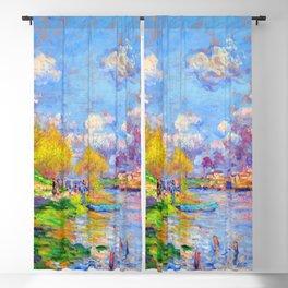 Claude Monet Spring on the Seine Blackout Curtain