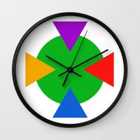 ninja turtle Wall Clocks featuring Teenage Mutant Ninja Turtle Minimalist by The Fenix