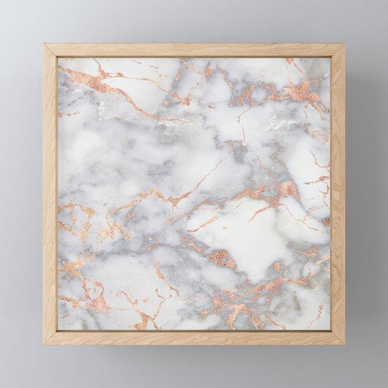 Gray Marble Rosegold  Glitter Pink Metallic Foil Style by originalaufnahme