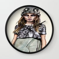 ben giles Wall Clocks featuring Cara for Giles 14/15 by vooce & kat
