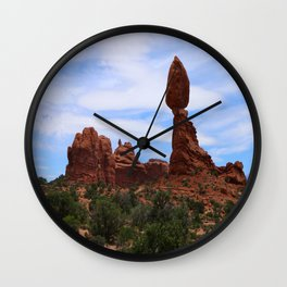 Balanced Rock Wall Clock