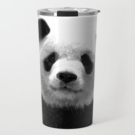 Black and white panda portrait Travel Mug