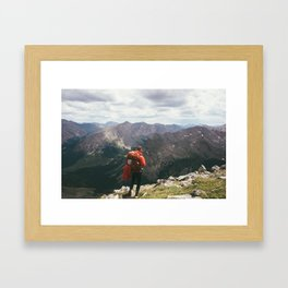 Hiker Descending Mt. Massive Framed Art Print