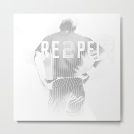 Respect Derek Jeter Re2pect Metal Print