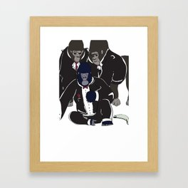Gorilla Warfare Framed Art Print