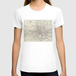 Vintage Map of Rennes France (1905) T-shirt