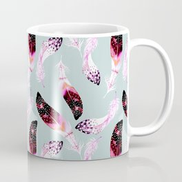 Boho pattern of pink feathers Coffee Mug