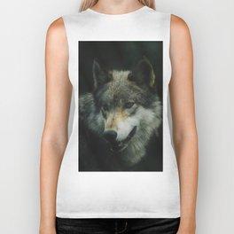Gray Wolf (Color) Biker Tank
