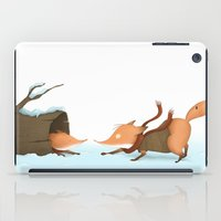 foxes iPad Cases featuring Foxes by Ramona Treffers