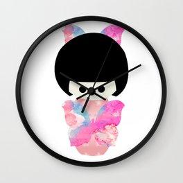 Butterfly Kokeshi Wall Clock