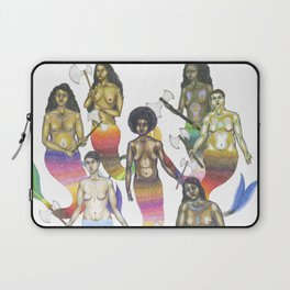 mermaids holding axes Laptop Sleeve