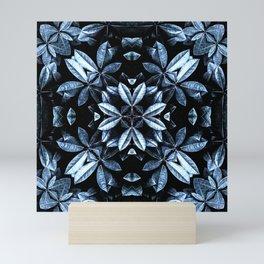METALLIC LEAVES MANDALA Mini Art Print