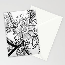 flower zentangle Stationery Cards