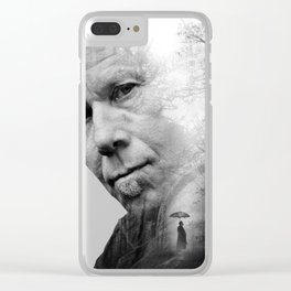 Tom Waits Poster Clear iPhone Case